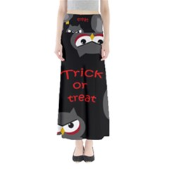 Trick Or Treat   Owls Maxi Skirts by Valentinaart