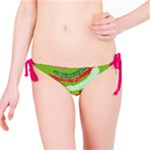Green Organic Abstract Bikini Bottom