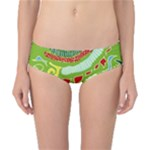 Green Organic Abstract Classic Bikini Bottoms