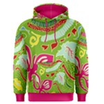Green Organic Abstract Men s Pullover Hoodie