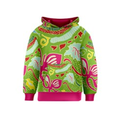 Green Organic Abstract Kids  Pullover Hoodie by DanaeStudio