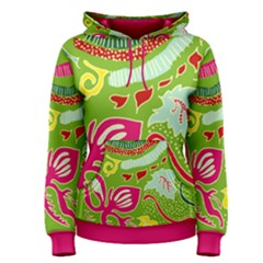 Green Organic Abstract Women s Pullover Hoodie by DanaeStudio