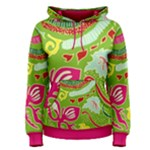 Green Organic Abstract Women s Pullover Hoodie