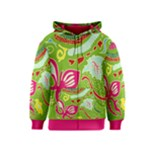 Green Organic Abstract Kids  Zipper Hoodie