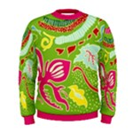 Green Organic Abstract Men s Sweatshirt