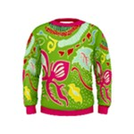 Green Organic Abstract Kids  Sweatshirt