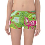 Green Organic Abstract Boyleg Bikini Bottoms