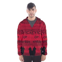 Trick Or Treat   Black Cat Hooded Wind Breaker (men) by Valentinaart