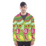 Green Organic Abstract Hooded Wind Breaker (Men)