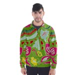 Green Organic Abstract Wind Breaker (Men)