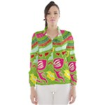 Green Organic Abstract Wind Breaker (Women)