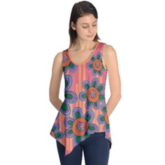 Colorful Floral Dream Sleeveless Tunic by DanaeStudio