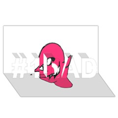 Devil Face Character Illustration #1 Dad 3d Greeting Card (8x4) by dflcprints