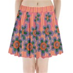 Colorful Floral Dream Pleated Mini Skirt
