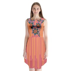 Colorful Floral Dream Sleeveless Chiffon Dress   by DanaeStudio