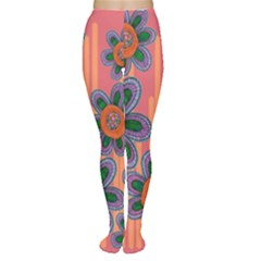 Colorful Floral Dream Tights by DanaeStudio