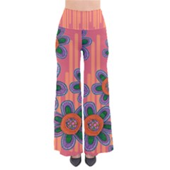 Colorful Floral Dream Women s Chic Palazzo Pants  by DanaeStudio