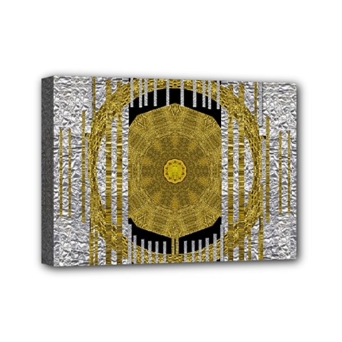 Silver And Gold Is The Way To Luck Mini Canvas 7  X 5  by pepitasart