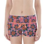 Colorful Floral Dream Boyleg Bikini Wrap Bottoms
