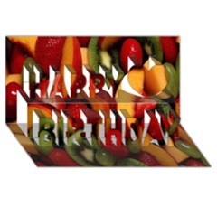 Fruit Salad Happy Birthday 3d Greeting Card (8x4) by AnjaniArt
