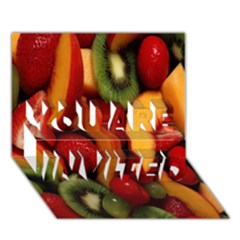Fruit Salad You Are Invited 3d Greeting Card (7x5) by AnjaniArt
