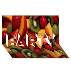 Fruit Salad Party 3d Greeting Card (8x4) by AnjaniArt