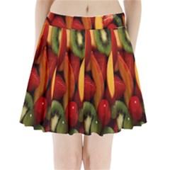 Fruit Salad Pleated Mini Skirt