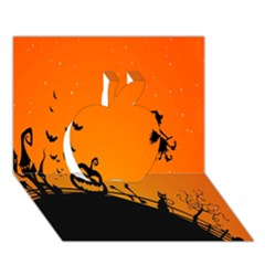 Halloween Day Apple 3d Greeting Card (7x5) by AnjaniArt