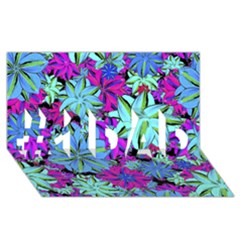 Vibrant Floral Collage Print #1 Dad 3d Greeting Card (8x4) by dflcprints