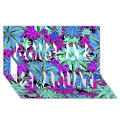 Vibrant Floral Collage Print Congrats Graduate 3d Greeting Card (8x4) by dflcprints