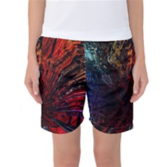 Architectural Fractal Pattern Women s Basketball Shorts by Zeze