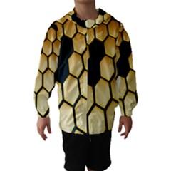Honeycomb Yellow Rendering Ultra Hooded Wind Breaker (Kids) by AnjaniArt