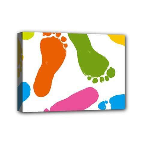 Lip Handprint Mini Canvas 7  X 5  by AnjaniArt