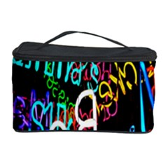 Miami Text Cosmetic Storage Case by AnjaniArt