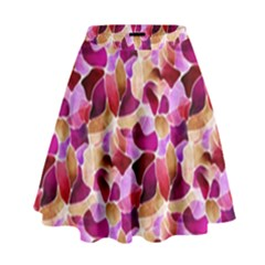Fuchsia Flowered High Waist Skirt by KirstenStar