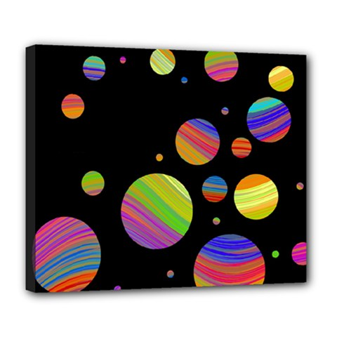 Colorful Galaxy Deluxe Canvas 24  X 20   by Valentinaart