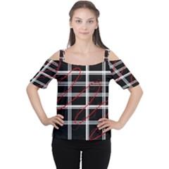 Not So Simple  Women s Cutout Shoulder Tee by Valentinaart