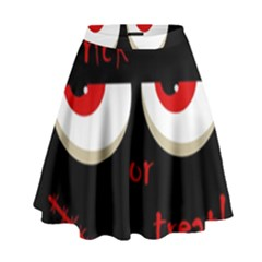 Halloween  Trick or treat  - monsters red eyes High Waist Skirt by Valentinaart