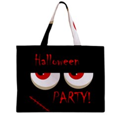 Halloween party - red eyes monster Zipper Mini Tote Bag by Valentinaart