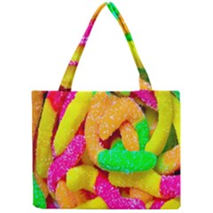 Neon Patterns Mini Tote Bag by AnjaniArt