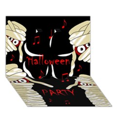 Halloween Mummy Party Clover 3d Greeting Card (7x5) by Valentinaart