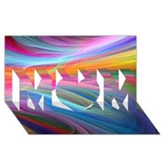 Rainbow Feather MOM 3D Greeting Card (8x4) by TailWags
