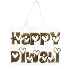 Happy Diwali Greeting Cute Hearts Typography Festival Of Lights Celebration Zipper Large Tote Bag by yoursparklingshop
