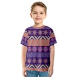 Colorful Winter Pattern Kids  Sport Mesh Tee