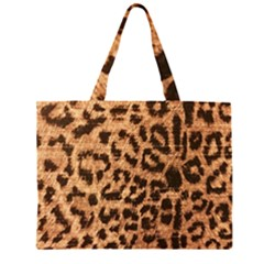 Leopard Print Animal Print Backdrop Large Tote Bag by Zeze