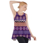 Colorful Winter Pattern Side Drop Tank Tunic