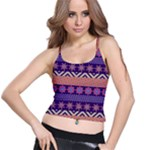 Colorful Winter Pattern Spaghetti Strap Bra Top