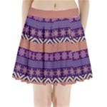 Colorful Winter Pattern Pleated Mini Skirt