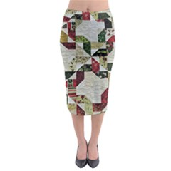 Prize Winning Quilt  Midi Pencil Skirt by Zeze