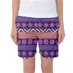 Colorful Winter Pattern Women s Basketball Shorts